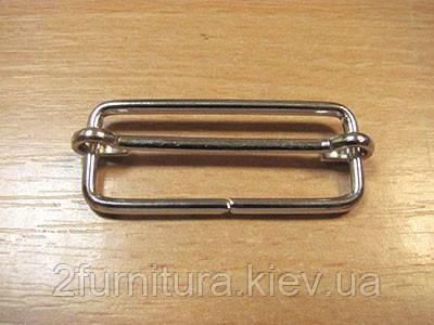 Регуляторы для сумок (35мм) никель, 20шт 4193