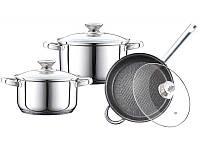 Набор посуды из нержавеющей стали 6 предметов Peterhof PH-15829