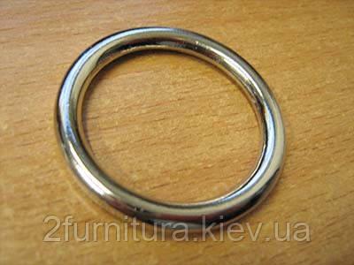 Кольца цельные для сумок (30мм) никель, 10шт 4313