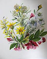 Авторская акварель-открытка (мини-портрет с фото)