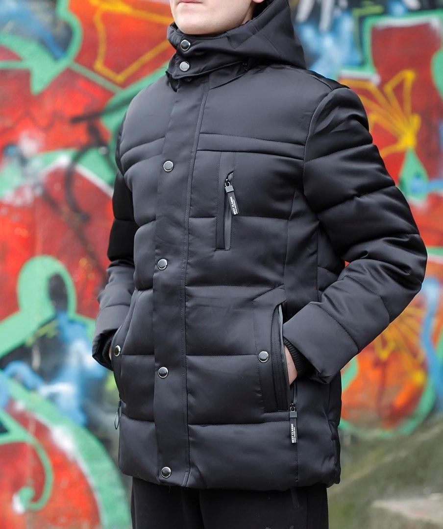 Куртка зимняя мужская (черная), ТОП-реплика