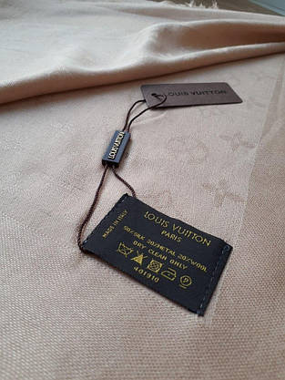 Платок Louis Vuitton светло-бежевый, фото 2