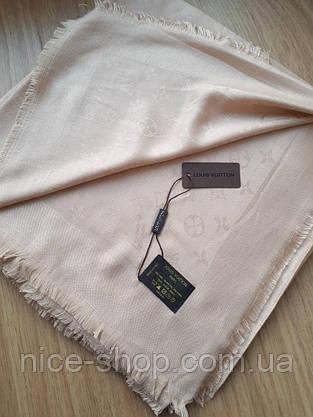 Платок Louis Vuitton светло-бежевый, фото 3