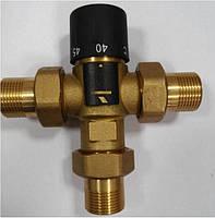"""Трехходовой термостатический смесительный клапан 3/4"""", 40-65 С (Вывод сбоку)"""