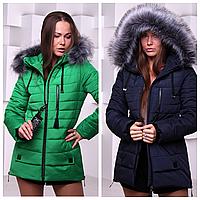 Стильная женская куртка-парка зима