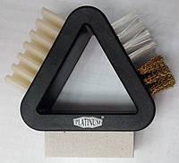 Щітка трикутник для замші, велюру Платинум, фото 1