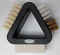 Щётка треугольник для замши, нубука, велюра Платинум, фото 1