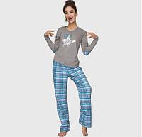 Хлопковая Фланелевая женская пижама Key LNS 081 B6