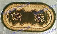 """Рельефный ковер Кадиллак """"Романия"""", цвет зеленый 0,6х1,1м. овал"""