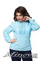 Блуза женская, ткань супер софт. Размер 52, 54, 56. В наличии 5 цветов