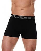 Бесшовные хлопковые шорты боксеры Brubeck BX00501A  (Черный, белый, серый, графит, синий) черный, S