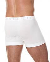 Бесшовные хлопковые шорты боксеры Brubeck BX00501A  (Черный, белый, серый, графит, синий) белый, XXL