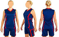 Форма баскетбольная женская Atlanta CO-1101-BL (полиэстер, р-р S-L, синий)