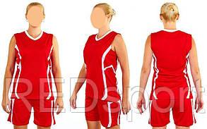 Форма баскетбольная женская Atlanta CO-1101-R (полиэстер, р-р S-L, красный)