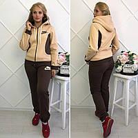 Женский теплый спортивный костюм Nike батал, фото 1