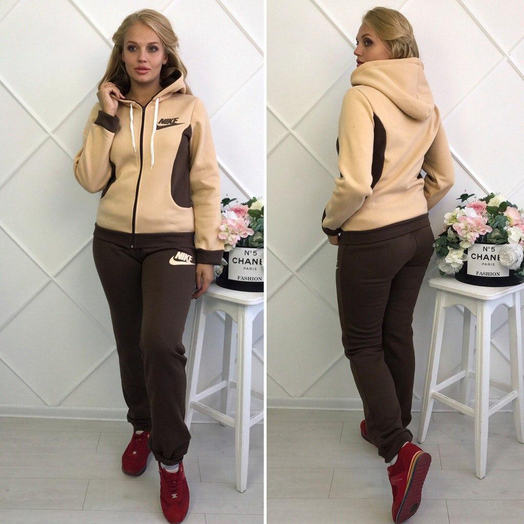 8463b2e6 Женский теплый спортивный костюм Nike батал - Интернет-магазин спортивной  одежды