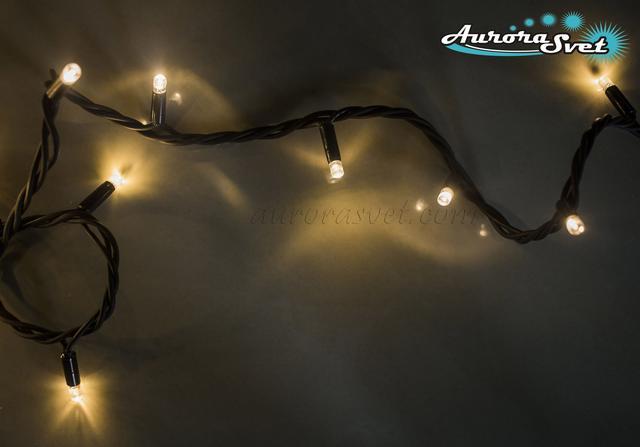 LED гирлянда от AuroraSvet нить (warm white) 10м