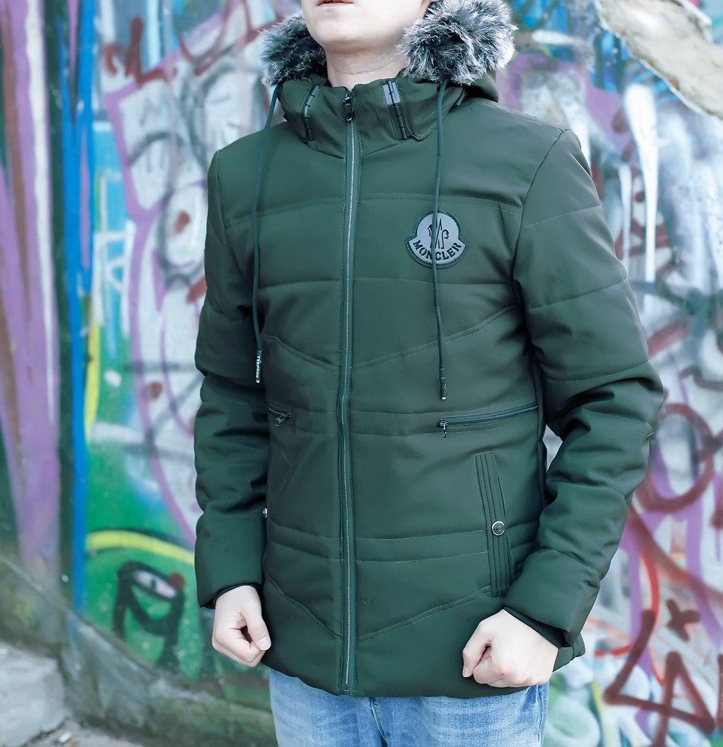 Куртка зимняя (зеленая),  ТОП-реплика