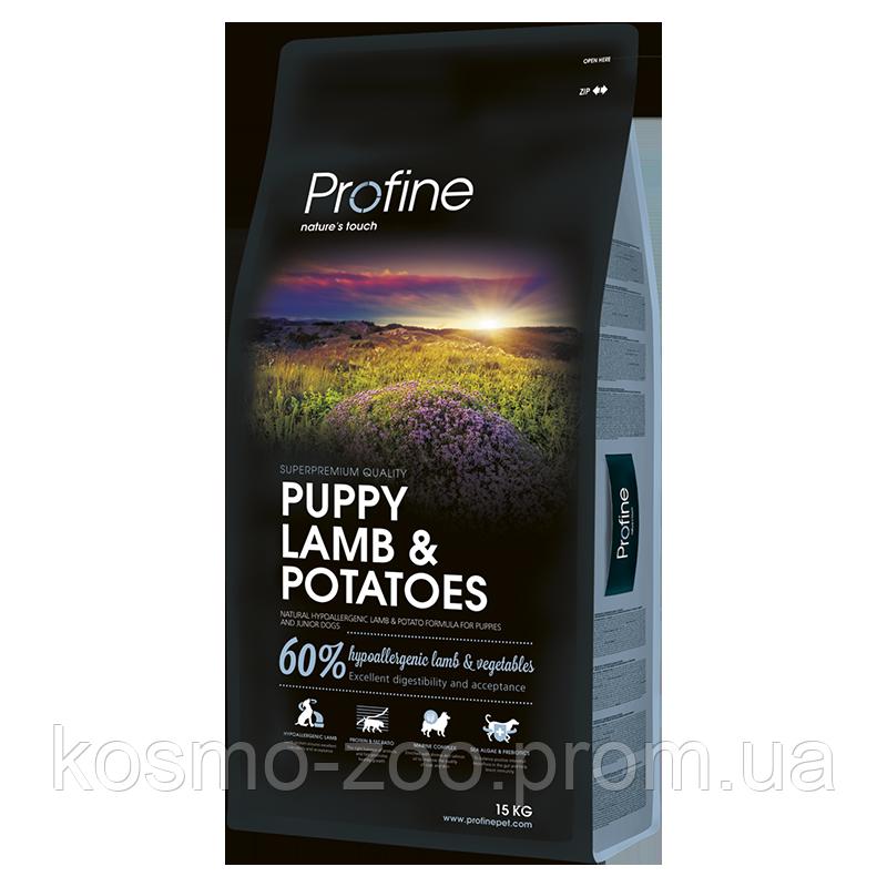 Сухой корм Профайн Паппи (Profine Puppy Lamb & Potatoes) для щенков, с ягненком 60% и картофель,15кг