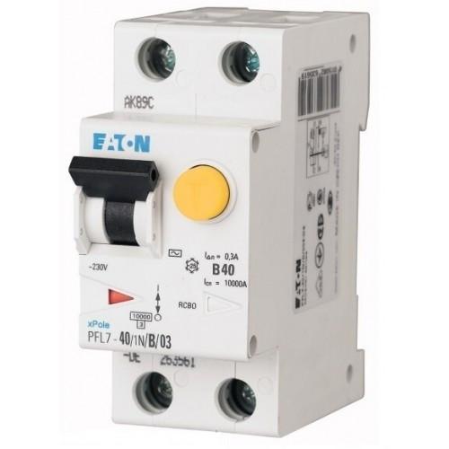 Дифференциальный автоматический выключатель PFL7-40/1N/B/03 (165693) Eaton