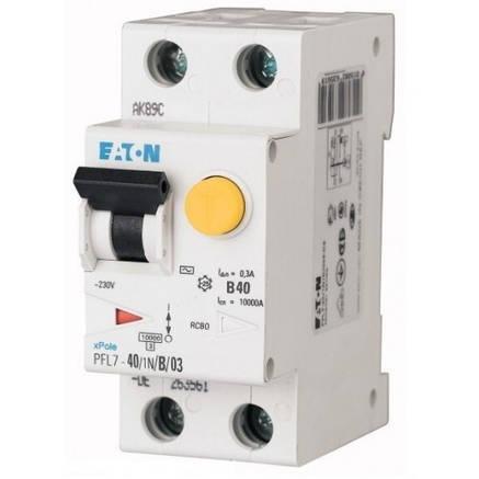 Диференційний автоматичний вимикач PFL7-40/1N/B/03 (165693) Eaton, фото 2