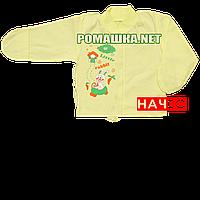 Детская кофточка р. 62 с начесом и царапками демисезонная ткань ФУТЕР 100% хлопок ТМ Алекс 3222 Желтый А