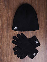 Шапка + перчатки Nike, ТОП-реплика, фото 1