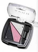 "Тени для век ""Грани цвета"" Avon, цвет Show Stopping Pink, Провокационный розовый, Эйвон, 3-х цветная палитра"
