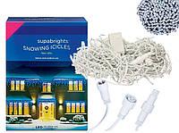 Новогодняя гирлянда Бахрома 200 LED Белый холодный цвет 7 м