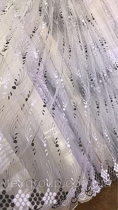 Тюль фатин турецкий Колосок чёрный 320, фото 2