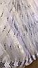 Тюль фатин турецкий Колосок чёрный 320