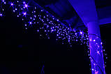 Новогодняя гирлянда Бахрома 200 LED, Голубой свет 10 м, фото 3