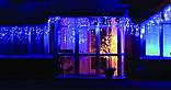 Новогодняя гирлянда Бахрома 200 LED, Голубой свет 10 м, фото 4