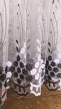 Тюль фатин турецкий Колосок чёрный 320, фото 3