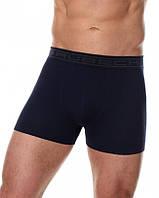 Бесшовные хлопковые шорты боксеры Brubeck BX00501A  (Черный, белый, серый, графит, синий) синий, XL