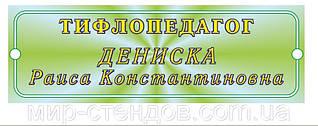 Табличка тифлопедагог