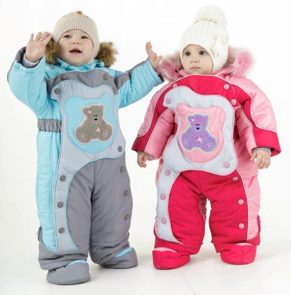 Зимние детские комбинезоны
