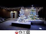 Новогодняя гирлянда Бахрома 300 LED, Белый теплый свет 11 м, фото 4
