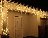 Новогодняя гирлянда Бахрома 300 LED, Белый теплый свет 14  м, фото 2