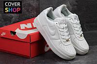 Кроссовки мужские Nike Air Force, цвет - белый,  материал - кожа, подошва - прошита