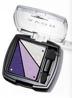 """Тени для век """"Грани цвета"""" Avon, цвет Diamante Purple, Роскошный фиолетовый, Эйвон, 3-х цветная палитра"""