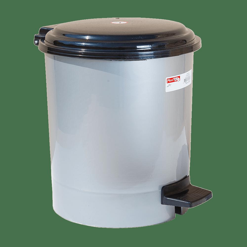 Відро для сміття з педаллю Irak Plastik №2 10л сірий металік