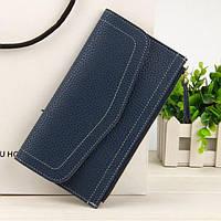 Клатч кошелек  женский темно-синий N1565Blue, фото 1