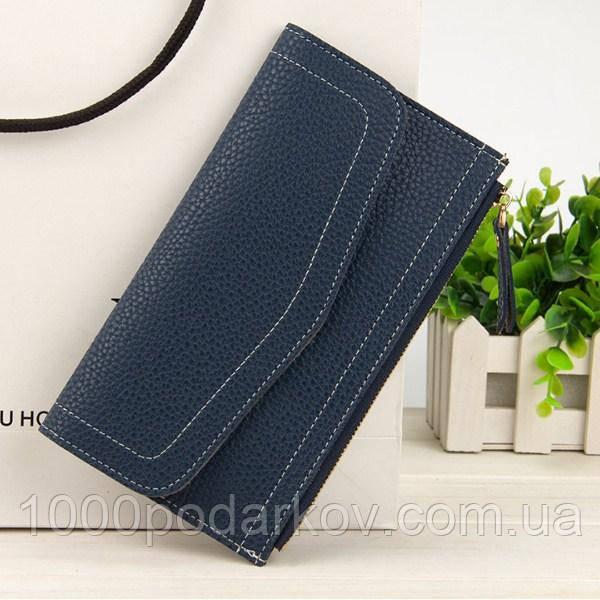 abea434bb552 Клатч кошелек женский темно-синий N1565Blue: продажа, цена в ...