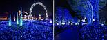 Новогодняя гирлянда 100 LED,Голубой, Длина 8 Метров, фото 4