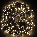 Новогодняя гирлянда 100 LED,Белый теплый, Длина 8 Метров, фото 4