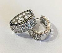Серьги в камнях родий Xuping ювелирная бижутерия