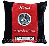 Подушка сувенирная в машинус логотипом Mercedes мерседес, фото 2
