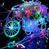 Новогодняя гирлянда 100 LED, 8M, Прозрачный провод, цвет на вибор, фото 4