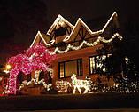 Новогодняя гирлянда 200 LED, Длина 16m, Белый теплый свет, фото 4